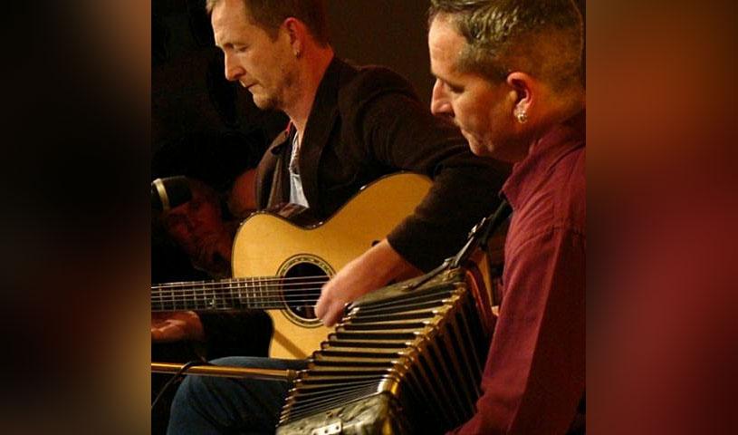 John Doyle & Mick McAuley at Alvas Showroom